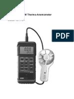 ANEMOMTER EXTECH Air Flow,Velocity Meter