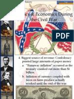 civil war politics and economics end of packet notes