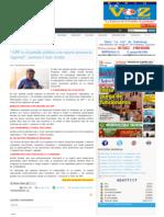 """10-11-2014 """"APP ES EL PARTIDO POLÍTICO CON MAYOR PRESENCIA REGIONAL"""", SOSTIENE CÉSAR ACUÑA."""