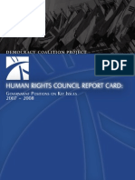 2007-2008 Human Rights Council Report Card