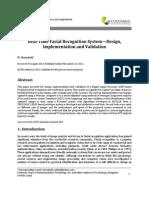 JSPTA - Real-Time Facial Recognition System-Design Implementation and Validation