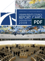 2008-2009 Human Rights Council Report Card