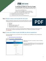 FIUGISCenter Guide for Student Software Installation 20140204