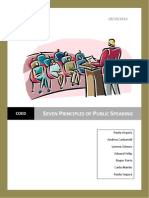 Seven Principles of Public Speaking