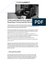 5 Microsoft Word & Excel...o Succeed at the Office