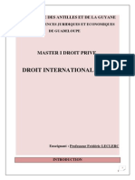 Cours de Droit International Prive