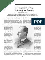 Life of Eugene V. Debs, Grand Secretary and Treasurer