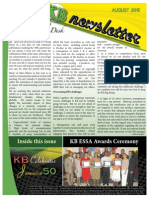 KB Newsletter Aug 2012