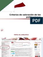 Valoracion de Publicaciones Académicas