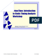 Synopsys PrimeTime - Introduction to Static Timing Analysis Workshop