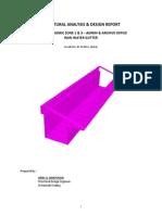 Structural Analysis & Design Report - Gutter