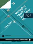 Flick, U. (2008). Managing Quality in Qualitative Research