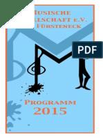 Jahresprogramm 2015 der Musischen Gesellschaft
