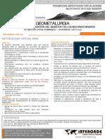 Geometalurgia en Intercade
