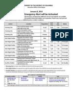 Washington, D.C. cold shelters list