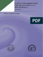 Legislacion Costarricense y Derecho de Acceso a La Informacion Publica
