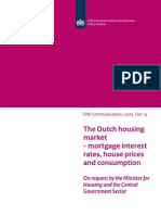 Memorandum Cpb 14feb2013 Dutch Housing Market