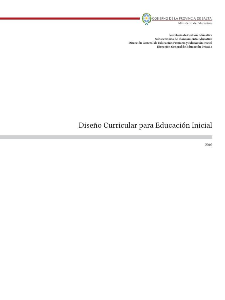 Diseño Curricular Educación Inicial