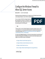 Configure the Windows Firewall to Allow SQL Server Access