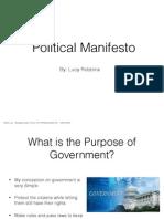 political manifesto keynote
