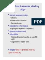 Sistemas Digitales - Sistemas de numeración, aritmética y códigos