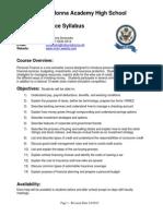 aaa personal finance syllabus 2014 - 2015