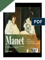 Manet. Ritorno a Venezia Dossier Insegnanti