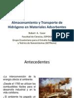 Almacenamiento y Transporte de Hidrógeno en Materiales Adsorbentes