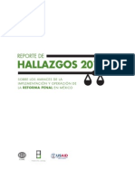 Reporte Reforma Penal 2014  CIDAC