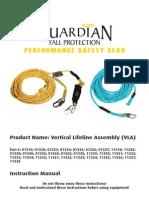 Instructions - Polydac Vertical Lifeline Assembly