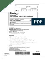 Edexcel GCE Biology Unit-5 June 2013 Question Paper