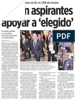 07-01-2015 Pactan aspirantes apoyar a 'elegido'