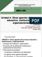unidad agentes del proceso educativo