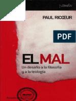 Filo72 Paul Ricoeur - El Mal