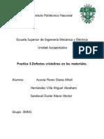Practica 3. Defectos Cristalinos en Los Materiales.
