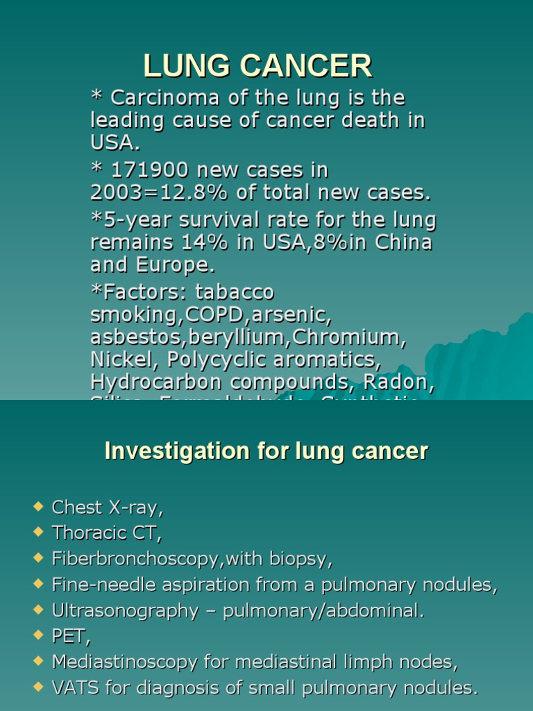 lung cancer | Lung Cancer | Lung