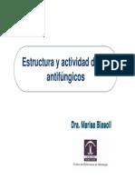 Estructura y Actividad de Los Antifúngicos