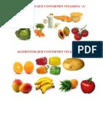 Alimentos Que Contienen Vitamina A y C