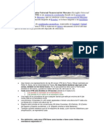 El Sistema de Coordenadas Universal Transversal de Mercator