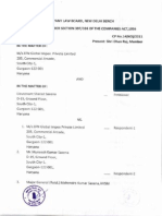 EFN Global Impex Pvt. Ltd. Dated 18-01-2013