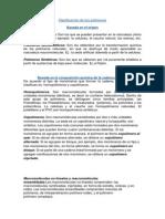 Clasificación de Los Polímeros