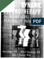 Kernberg, Handbook of Dynamic Psychotherapy for Higher Level Personality Pathology