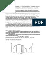 Aplikasi Metode Numerik Dalam Perhitungan Luas Dan Volume Badan Kapal Yang Berada Di Bawah Permukaan Air Laut