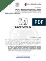 Honda Alerta 32 - Cambio de Bolsas de Aire - 2015