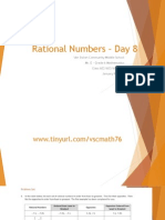 Lesson #36 - Ordering Integers and Rational Numbers II