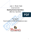 Banking Services Operations