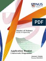 Application Booklet 2014-2015 Admission NUS