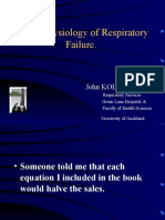 Pathophysiology of Respiratory Failure