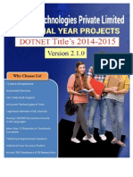 IEEE DOTNET PROJECT LIST 2014-2015