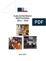 PLAN 82 El Plan Estratégico Institucional 2012-2016 2011